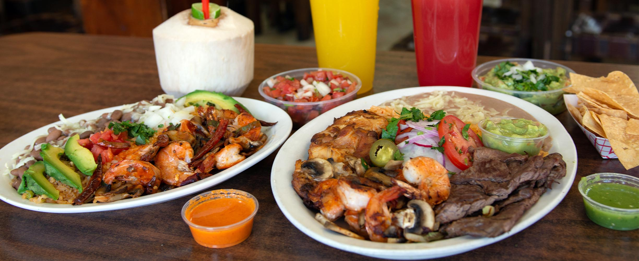 Mexican restaurant in San francisco with a variety of platters including meat, shrimp, beans, carnitas and almost any combination of mexican food.